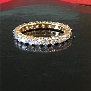 Jewelry - Cubic Zirconia Eternity Ring Size 9